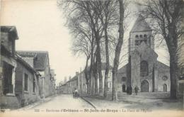 CPA 45 Loiret  ENVIRONS D'ORLÉANS - SAINT JEAN DE BRAYE - LA PLACE DE L'EGLISE  St - France
