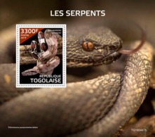 Togo. 2019 Snakes. (0447b)  OFFICIAL ISSUE - Snakes