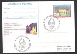 Chess, Italy Marostica, 08.09.1991, Cancel On Card, International Chess Festival - Schach