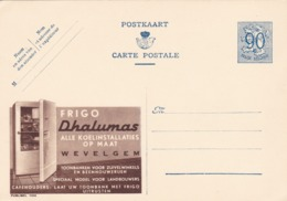 BELGIO - STORIA POSTALE NON VIAGGIATA - BELGIO - INTERO POSTALE 90 C. - FRIGO DHALUMAS - Stamped Stationery