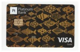SPECIMEN Credit Card Fishes Bankcard Platinum Bank UKRAINE VISA Gold (Not Activated) - Cartes De Crédit (expiration Min. 10 Ans)