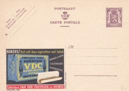 BELGIO - STORIA POSTALE NON VIAGGIATA - BELGIO - INTERO POSTALE 90 C. - VE'RITABLE TABAC AME'RICAM VDC - Stamped Stationery