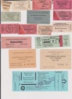 Lot 24 Tickets Eintrittskarten Visites Musée Eglise Expo Allemagne Deutschland Germany - Tickets - Entradas