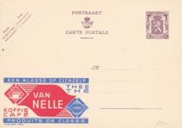 BELGIO - STORIA POSTALE NON VIAGGIATA - BELGIO - INTERO POSTALE 90 C. - VAN NELLE - KOFFIE CAFE' - Stamped Stationery