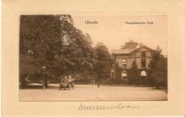 Utrecht, Hoogelandsche Park Met Open Auto C.a. 1915 - Utrecht