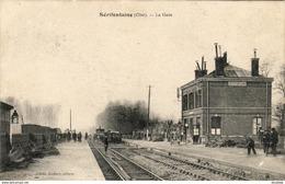 D60  SÉRIFONTAINE  La Gare  ....... Vue Intérieure Avec Train - France