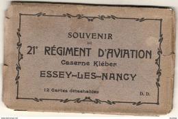 D54  ESSEY LÈS NANCY Souvenir Du 21ème Régiment D'Aviation Caserne Kléber ( Il Ne Reste Que 7 CPA Dans Le Carnet ) - Francia