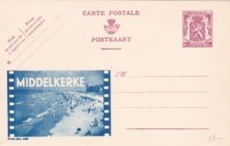 BELGIO - STORIA POSTALE NON VIAGGIATA - BELGIO - INTERO POSTALE 65 C. - MIDDELKERKE - Stamped Stationery