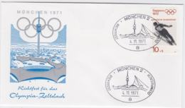 Germany Cover  1972 München Olympic Games - 1971 München Richtfest Olympia Zeltdach  (G105-19) - Sommer 1972: München