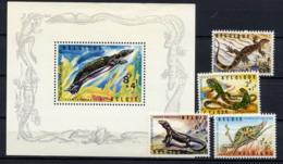 BELGIQUE 1965, REPTILES, 4 Valeurs Et 1 Bloc, Neufs / Mint. R509 - Reptiles & Amphibians