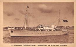 """BREST - Le """"Président Théodore Tissier"""" Appareillant De Brest Pour Croisière - Bateau - Brest"""
