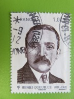 Timbre France YT 4635 - Personnalité - Henri Queuille - Homme Politique Français - 2012 - Cachet Rond - Oblitérés