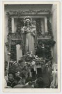 FOTO-CARTOLINA  TIMBRO TRIESTE  PROCESSIONE  DELLA  MADONNA  (BOLLO A M G C/ TARGHETTA)    2 SCAN  (VIAGGIATA) - Trieste