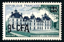 REUNION 1953-54 - Yv. 316 (=FR 980 + Surch) *   Cote= 7,00 EUR - Château De Cheverny  ..Réf.FRA29089 - Réunion (1852-1975)