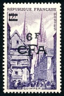 REUNION 1953-54 - Yv. 313 (=FR 979 + Surch) *   Cote= 6,00 EUR - Quimper  ..Réf.FRA29091 - Réunion (1852-1975)