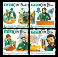 Guinea Bissau T.A. Watson Graham Bell Telephone Inventor 4v Set Michel:8076-8079 - Famous People