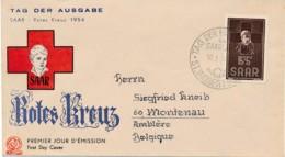 SAAR Rotes Kreuz 1954 - FDC – Croix Rouge 1954 - FDC