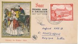 SAAR Tag Der Briefmarke 1954 – FDC - FDC