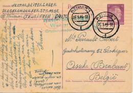 Pwst Weimar1 27.5.44 Westarbeiterlager Naar Asse Brabant België - Duitsland