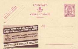 BELGIO - STORIA POSTALE NON VIAGGIATA - BELGIO - INTERO POSTALE 65 C. - KOOT TEGEN NORMALE PRIJZEN - Stamped Stationery