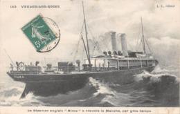 """VEULES LES ROSES - Le Steamer Anglais """"ALMA"""" à Travers La Manche,par Gros Temps - Bateau - Veules Les Roses"""
