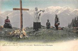Switzerland Benediction De La Montagne , Priest 1904 CPA - Switzerland