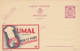 BELGIO - STORIA POSTALE NON VIAGGIATA - BELGIO - INTERO POSTALE 65 C. - UMAL BURCHT -PUR RT FOR ALUMINIUMT - Stamped Stationery