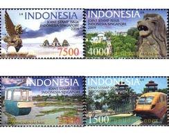 Ref. 242052 * MNH * - INDONESIA. 2009. SINGAPORE AND INDONESIA TOURISTIC ATTRACTIONS . ATRACCIONES TURISTICAS DE SINGAPU - Indonesia