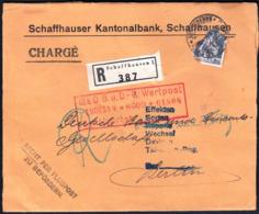 Switzerland Schaffhausen 1932 / Schaffhauser Kantonalbank / Bank / Sent To Berlin, Germany - Cartas