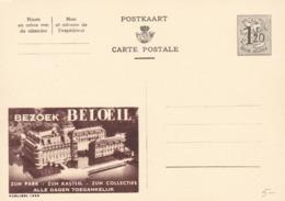 BELGIO - STORIA POSTALE NON VIAGGIATA - BELGIO - INTERO POSTALE F.120 - BEZOEK BELOEIL - Stamped Stationery