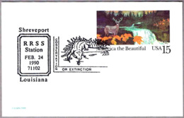 COCODRILO - CROCODILE - Conservation Or Extinction. Shreveport LA 1990 - Reptiles & Anfibios