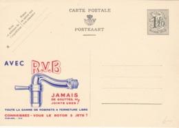BELGIO - STORIA POSTALE NON VIAGGIATA - BELGIO - INTERO POSTALE F.120 - AVEC R.V.B - JAMAIS DE GOUTTES - Stamped Stationery