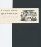 Geboortekaart Carla Eugenie Henriette Schellart 1940 - Valentin Le Campion (1903-1952) - Geburt & Taufe