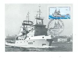 17354 - ST PIERRE ET MIQUELON - REMORQUEUR DE HAUTE MER LE TENACE (A 669) 2-11-1989 - St.Pierre Et Miquelon
