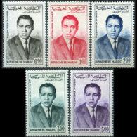 MOROCCO 1962 - Scott# C5-9 King Hassan Set Of 5 MNH - Morocco (1956-...)