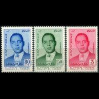 MOROCCO-NORTH ZONE 1957 - Scott# 18-20 Prince Set Of 3 LH - Morocco (1956-...)