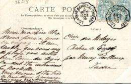 N°76618 -beau Cachet Convoyeur (ambulant) Esternay à Château Thierry -1905- - Storia Postale