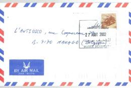Cachet Musée Beyrouth Sur Lettre Du Liban Vers La Belgique Du 27/08/2002 - Liban