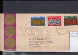 Singapur Michel Cat.No. FDC 153/155 Coins - Singapour (1959-...)