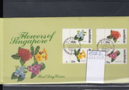 Singapur Michel Cat.No. FDC 369/372 Flowers - Singapour (1959-...)