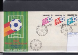 Singapur Michel Cat.No. FDC 400/402 Soccer - Singapour (1959-...)