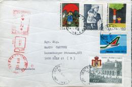 Italia (1988) - Busta Raccomandata Per La Germania - 6. 1946-.. Repubblica