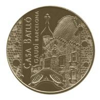 Monnaie De Paris , 2015 ,Barcelone , Casa Battlo Gaudi , Croix Gaudienne Et Toiture - Monnaie De Paris