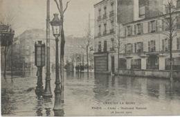 CRUE  DE  LA  SEINE  -  CLICHY  - Boulevard  National  -   28  Janvier  1910  /   ELD - Clichy