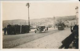 TRIESTE-FOTOGRAFICA CON TRAM ROVESCATO - Trieste