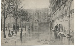 CRUE  DE  LA  SEINE  -  CLICHY  - Place  Des  Fêtes  -   28  Janvier  1910  /   ELD - Clichy