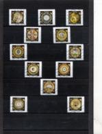 12 Timbres  Adhésifs  Oblitérés(2019) ( Assiette )( Production Sèvres) - Adhésifs (autocollants)