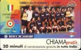 *CHIAMAGRATIS - N.47 - TORRES CALCIO FEMMINILE* - Scheda NUOVA (MINT) (DT) - Italia