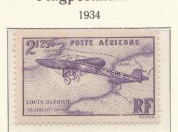 PIA - FRA - 1934 : 25° Anniversario Della Traversata Della Manica Di Louis Blériot - (Yv P.A. 7) - Aerei