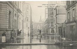 CRUE  DE  LA  SEINE  -  CLICHY  -  Rue  De  La  Mairie  -   28  Janvier  1910  /   Docteur Médecin  /  ELD - Clichy